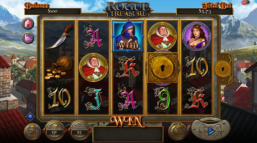 Rogue Treasure Slot Screenshot 1