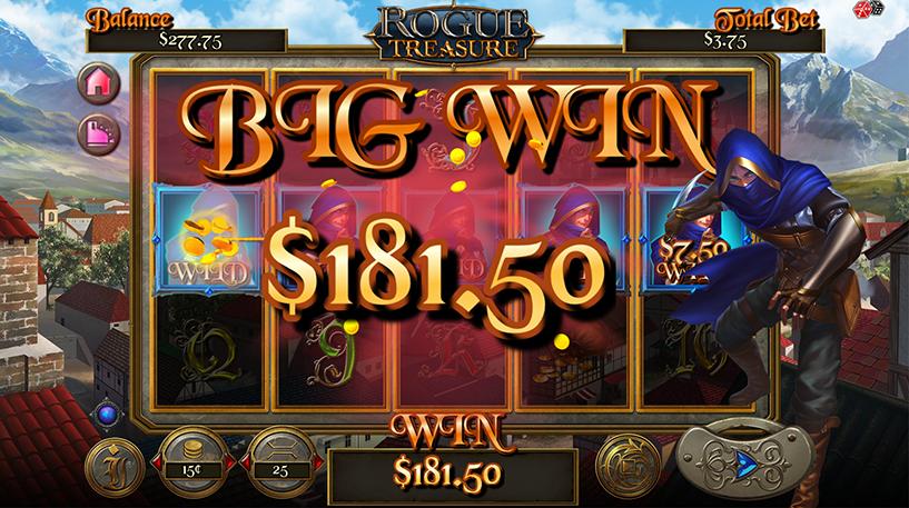 Rogue Treasure Slot Screenshot 2