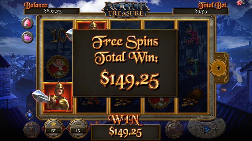 Rogue Treasure Slot Screenshot 3