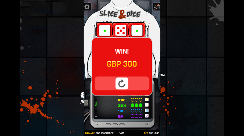 Slice and Dice Slots Screenshot 1