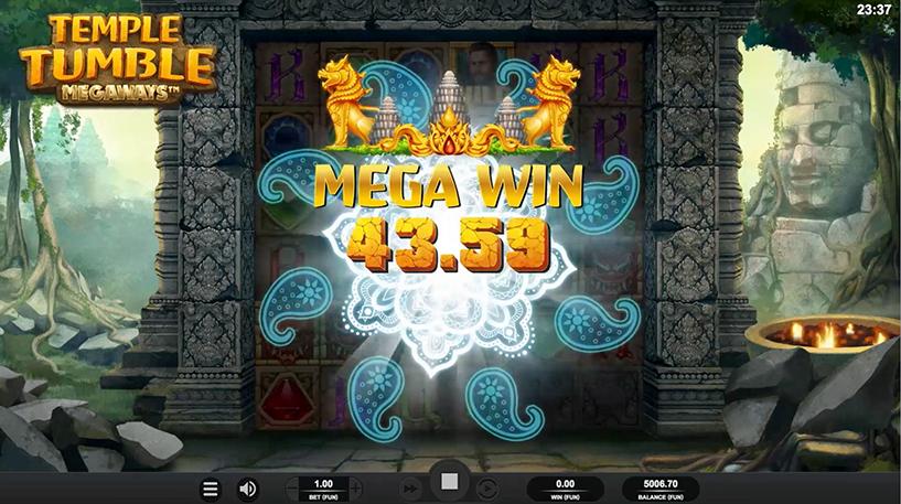 Temple Tumble Slot Screenshot 1