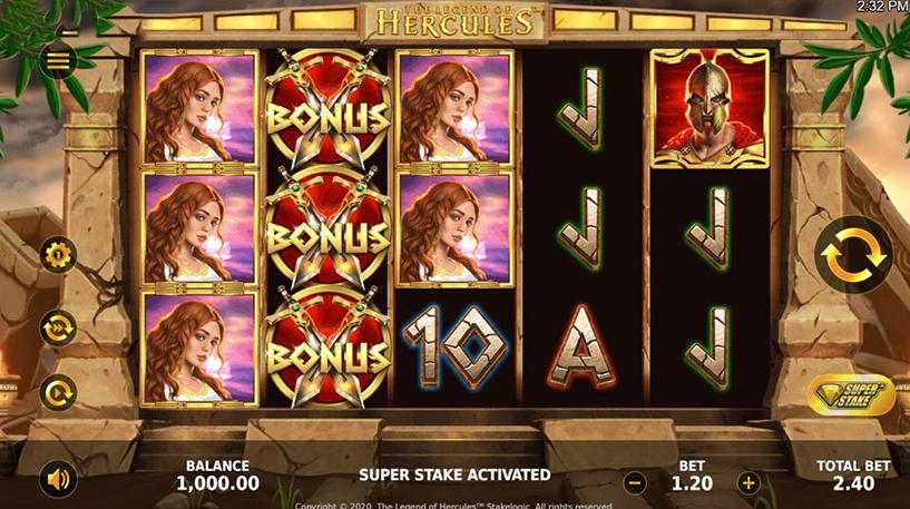 Legend of Hercules Slot Screenshot 1