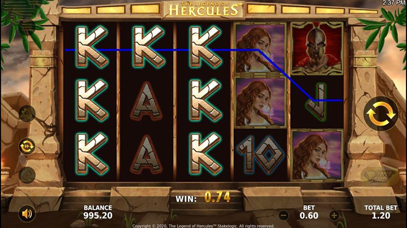 Legend of Hercules Slot Screenshot 2
