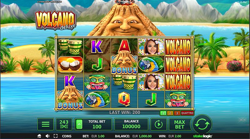 Volcano Deluxe Slot Screenshot 1