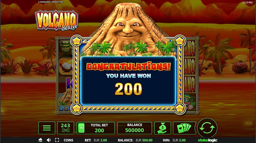 Volcano Deluxe Slot Screenshot 2