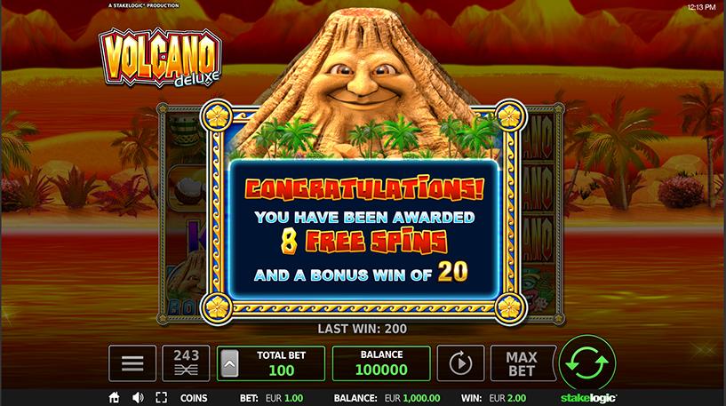 Volcano Deluxe Slot Screenshot 3
