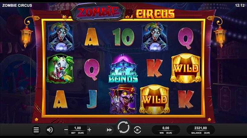 Zombie Circus Slot Screenshot 2