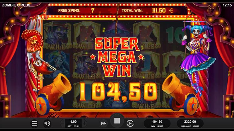 Zombie Circus Slot Screenshot 1