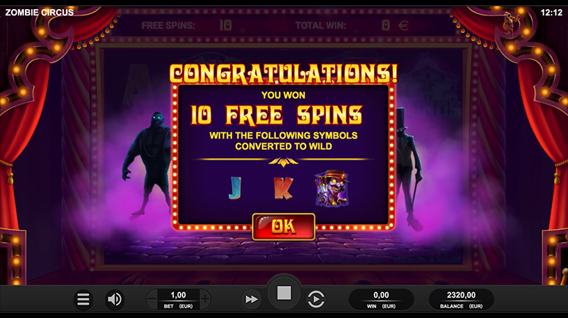 Zombie Circus Slot Screenshot 3