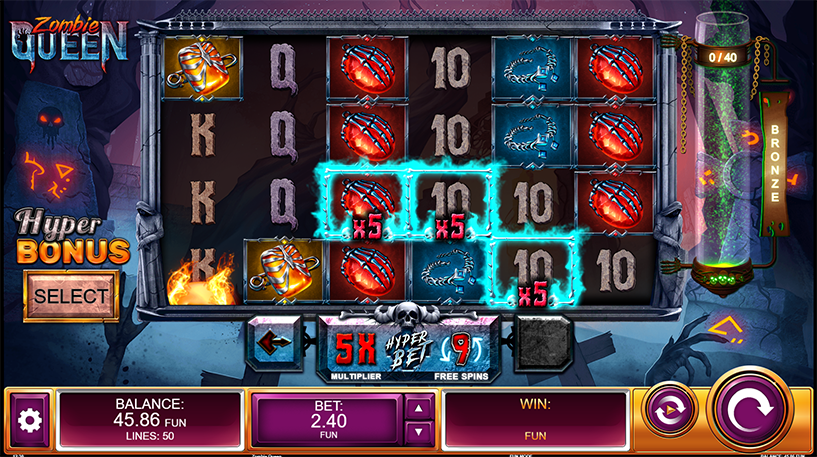 Zombie Queen Slot Screenshot 2