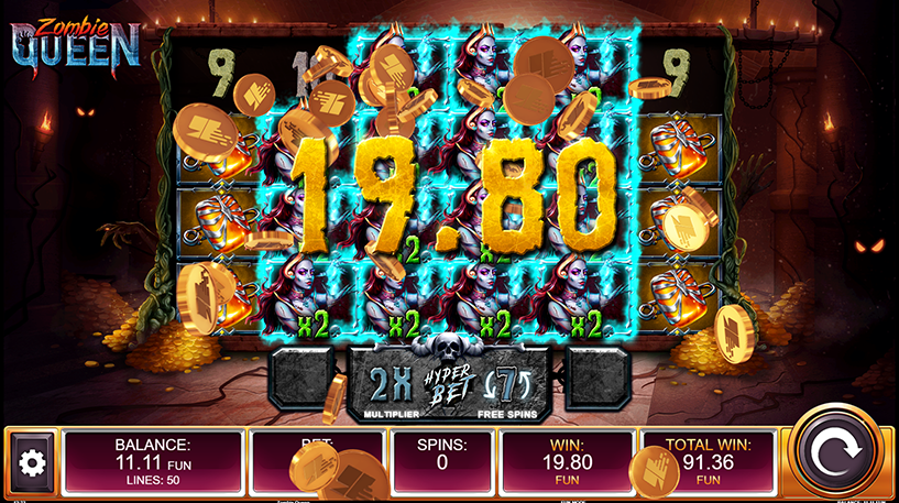 Zombie Queen Slot Screenshot 3
