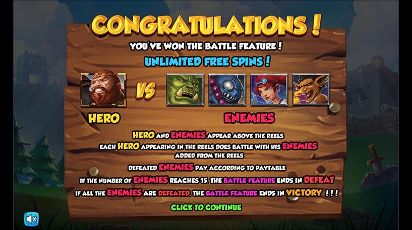 Battle Heroes Slot Screenshot 1