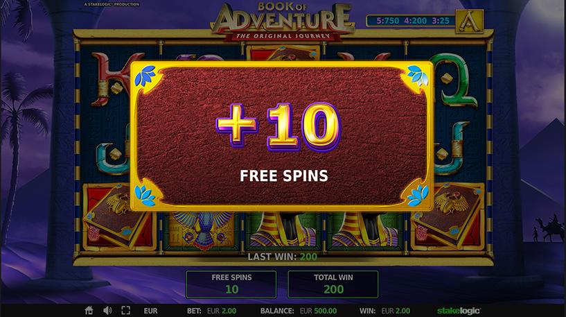 Book of Adventure Slot Screenshot 2