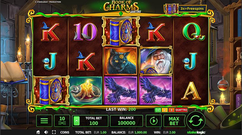 Book of Charms Quattro Slot Screenshot 1