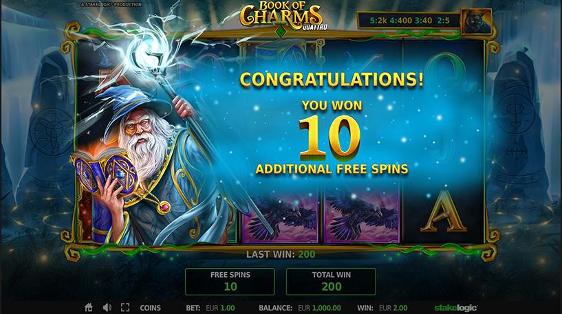 Book of Charms Quattro Slot Screenshot 3