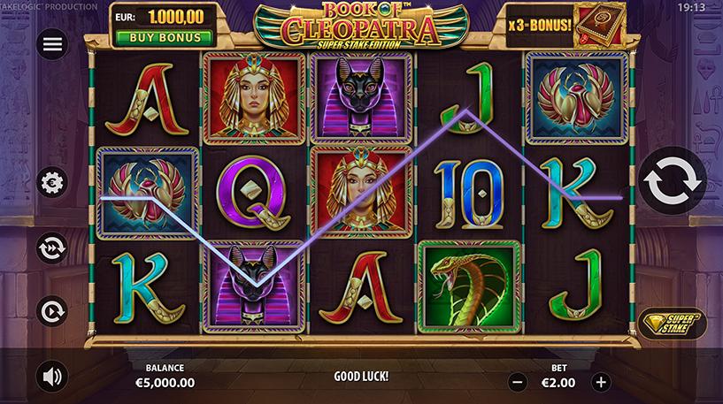 Book of Cleopatra Super Stake Screenshot 3