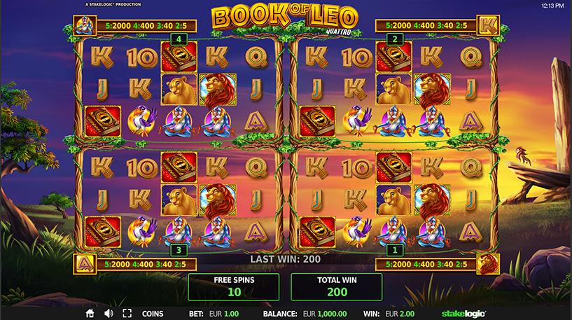 Book of Leo Quattro Slot Screenshot 1