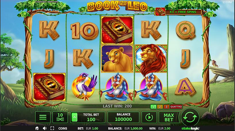 Book of Leo Quattro Slot Screenshot 2