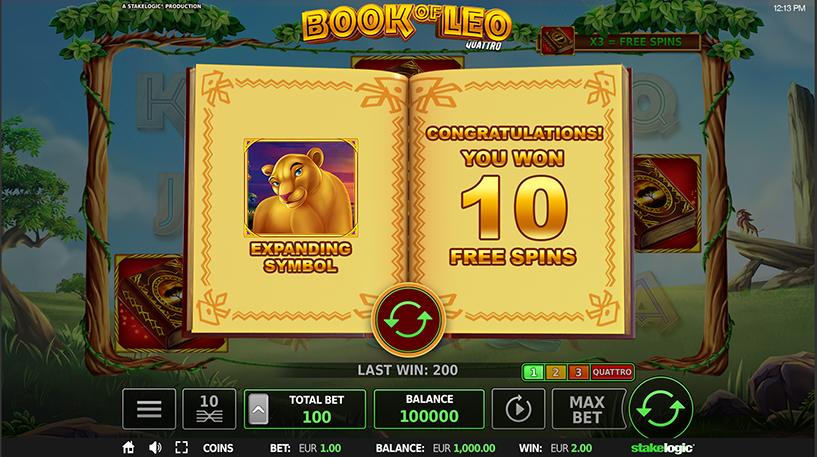 Book of Leo Quattro Slot Screenshot 3