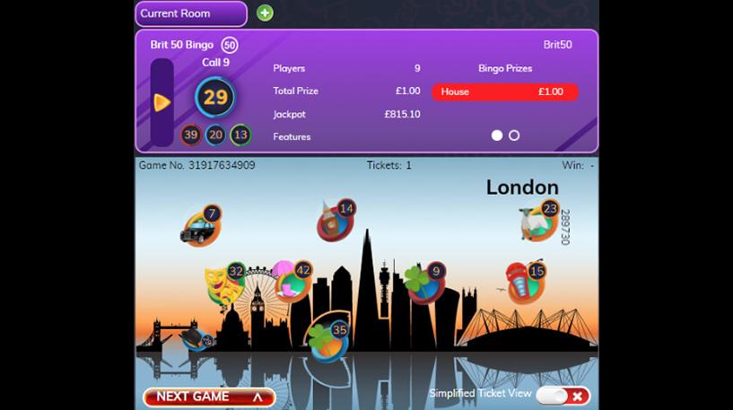 Brit 50 Bingo Screenshot 1