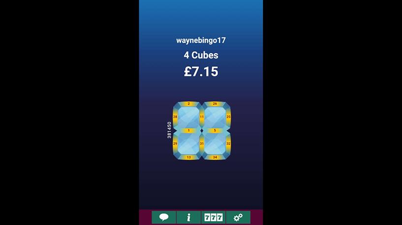 Cash Cubes Bingo Screenshot 1