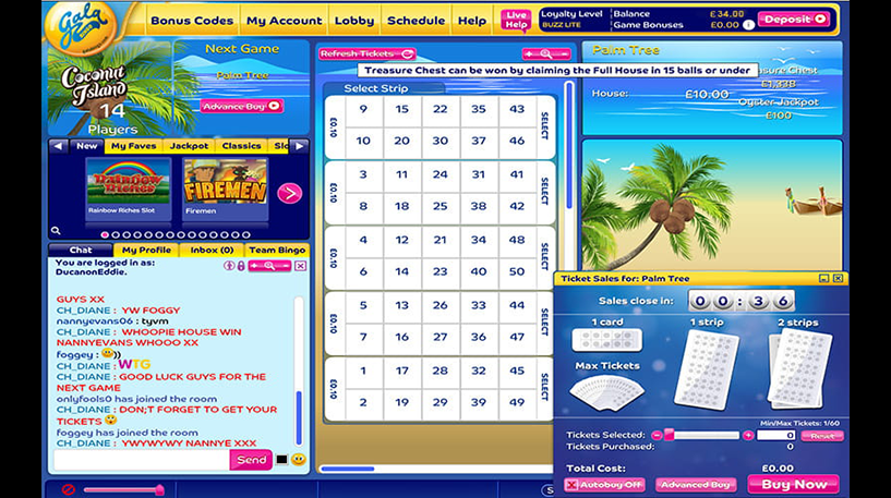 Coconut Island Bingo Screenshot 1
