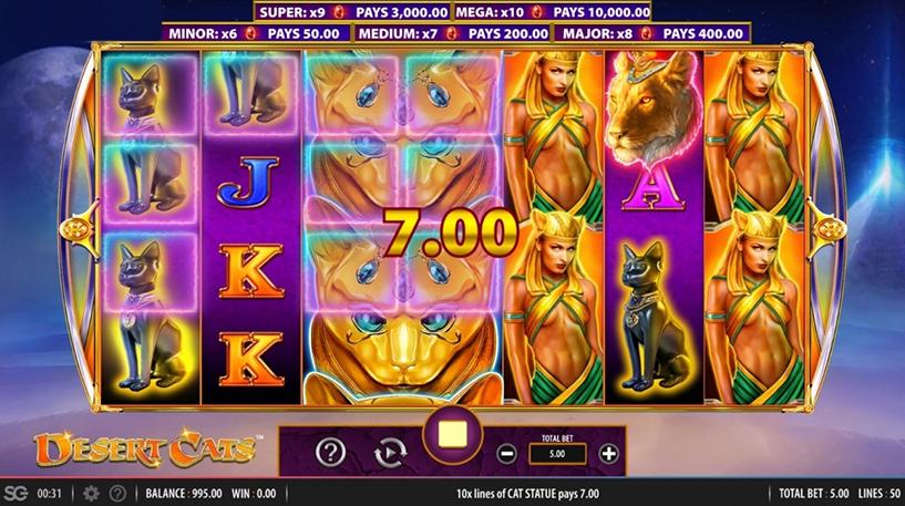 Desert Cats Slot Screenshot 2