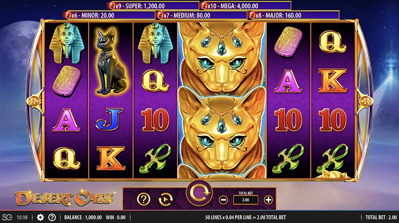 Desert Cats Slot Screenshot 3