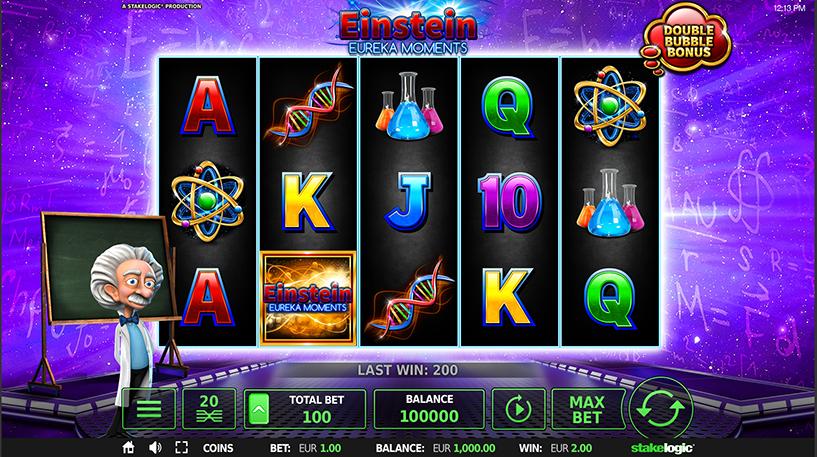 Einstein Eureka Moments Deluxe Slot Screenshot 3