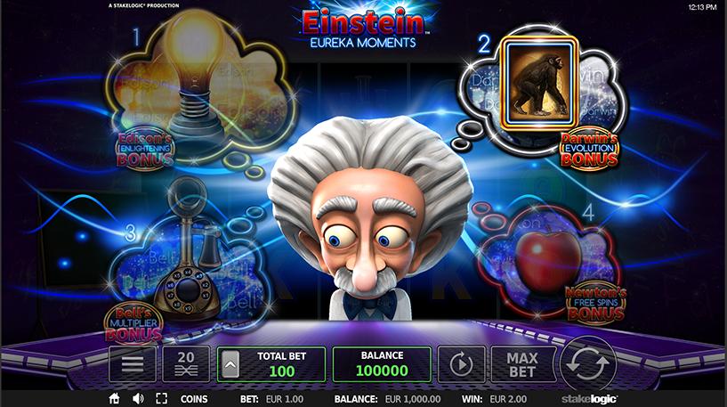 Einstein Eureka Moments Deluxe Slot Screenshot 1