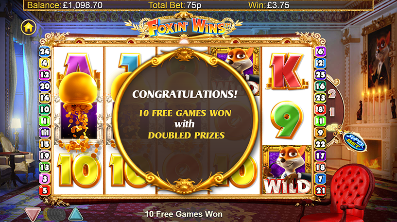 Foxin' Wins Slot Screenshot 1