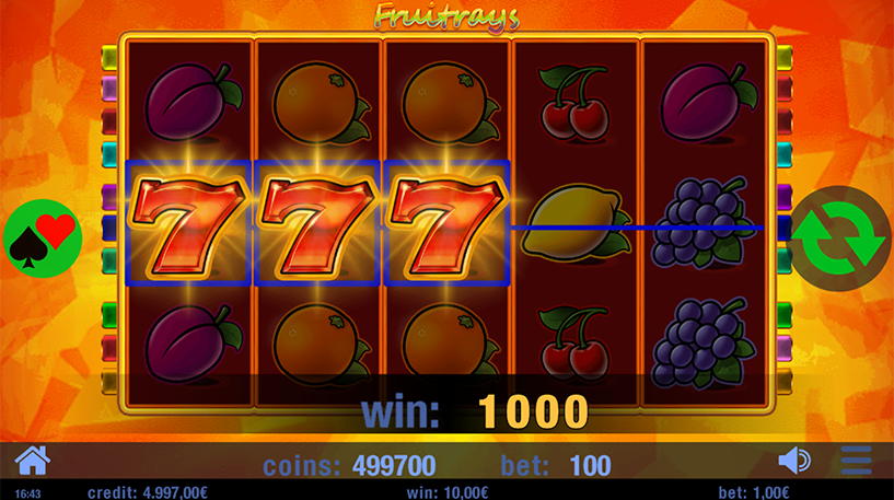 Fruitrays Slot Screenshot 1