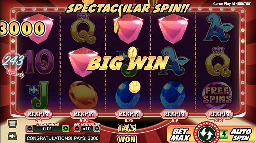 Gem Riches Slot Screenshot 2