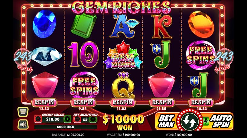 Gem Riches Slot Screenshot 3