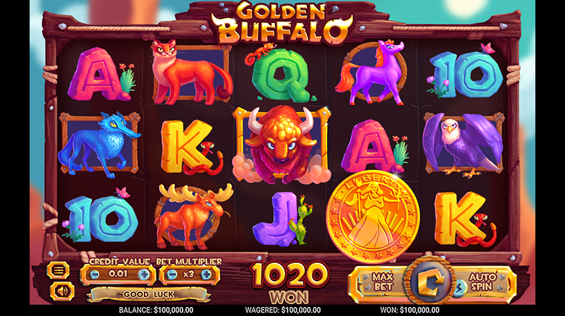 Golden Buffalo Slot Screenshot 1