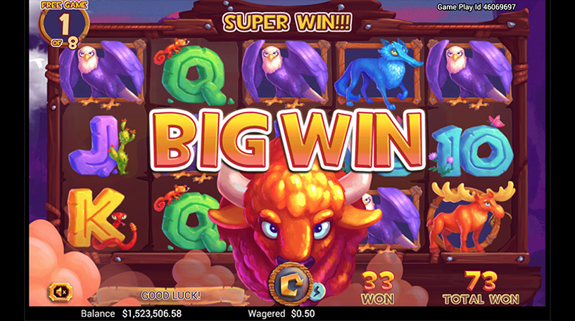 Golden Buffalo Slot Screenshot 2