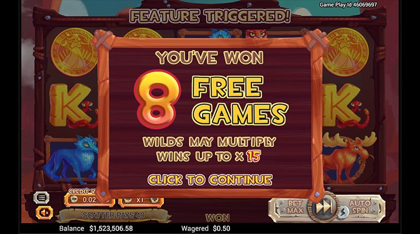 Golden Buffalo Slot Screenshot 3