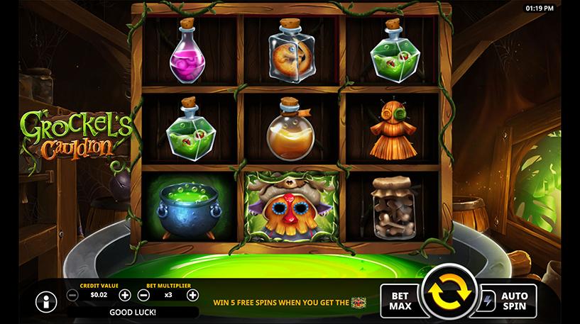 Grockel's Cauldron Slot Screenshot 1