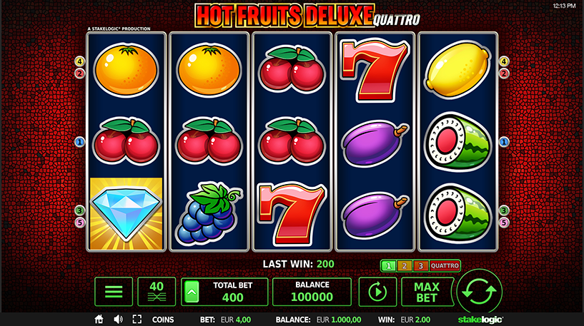 Hot Fruits Deluxe Quattro Slot Screenshot 3