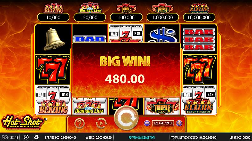 Hot Shot Progressive Slot Screenshot 3