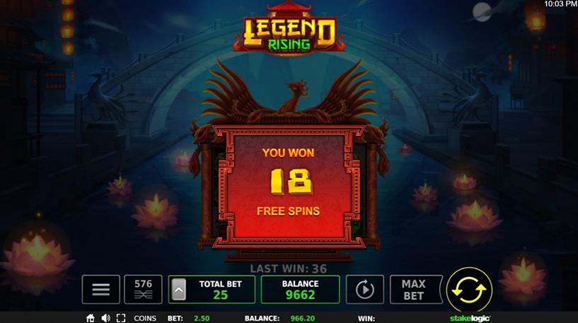 Legend Rising Slot Screenshot 1