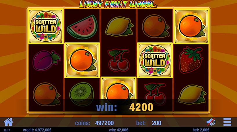 Lucky Fruit Wheel Slot Screenshot 1