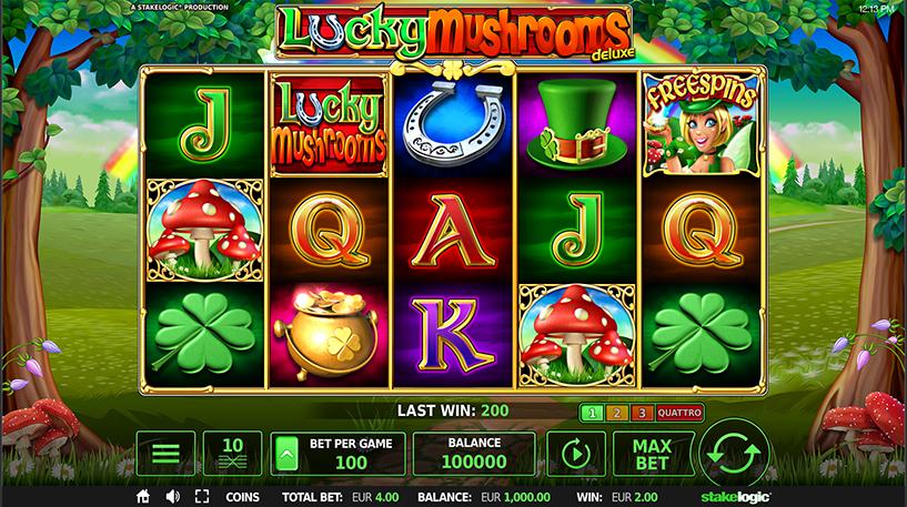 Lucky Mushrooms Deluxe Slot Screenshot 3