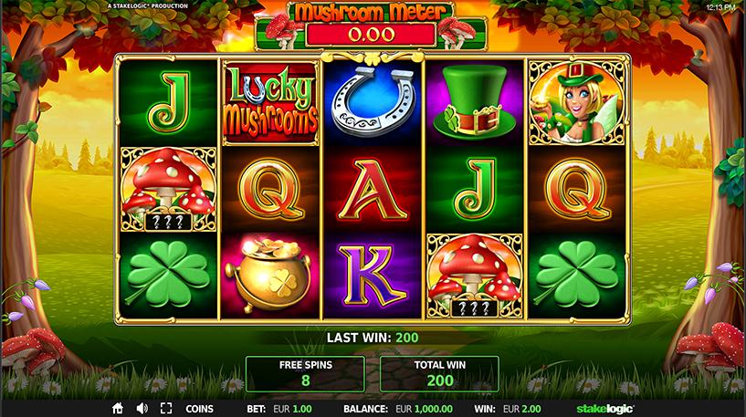 Lucky Mushrooms Deluxe Slot Screenshot 2