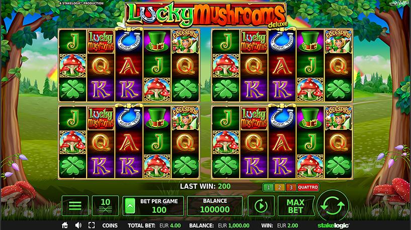 Lucky Mushrooms Deluxe Slot Screenshot 1