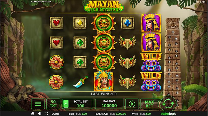 Mayan Wild Mystery Slot Screenshot 1