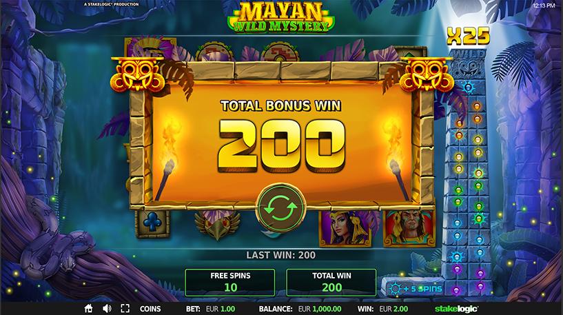 Mayan Wild Mystery Slot Screenshot 2