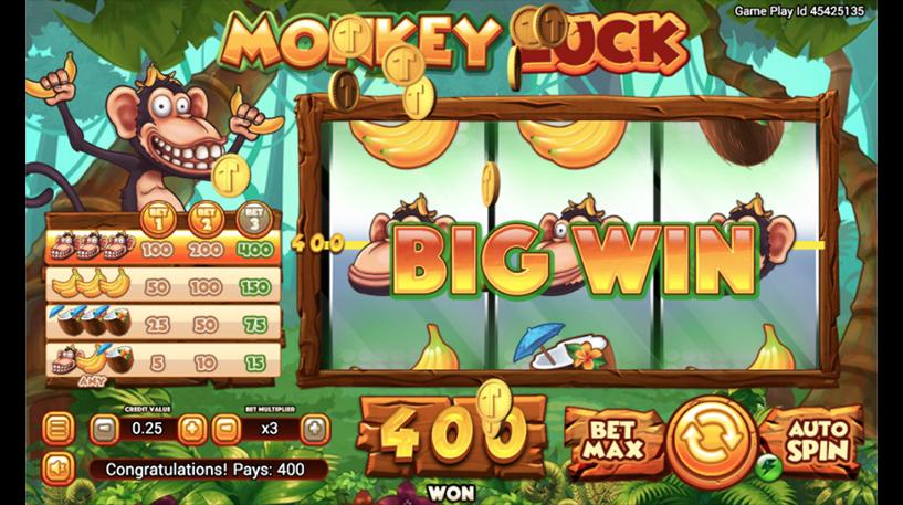 Monkey Luck Slot Screenshot 2