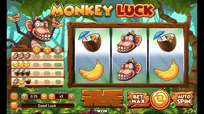 Monkey Luck Slot Screenshot 3