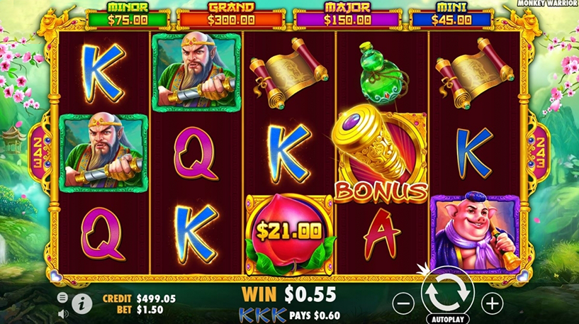Monkey Warrior Slot Screenshot 1